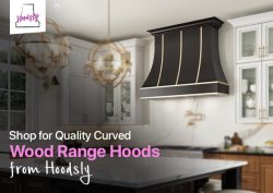Shop for Quality Curved Wood Range Hoods from Hoodsly
