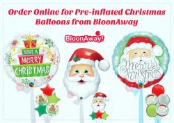 Order Online for Pre-inflated Christmas Balloons from BloonAway