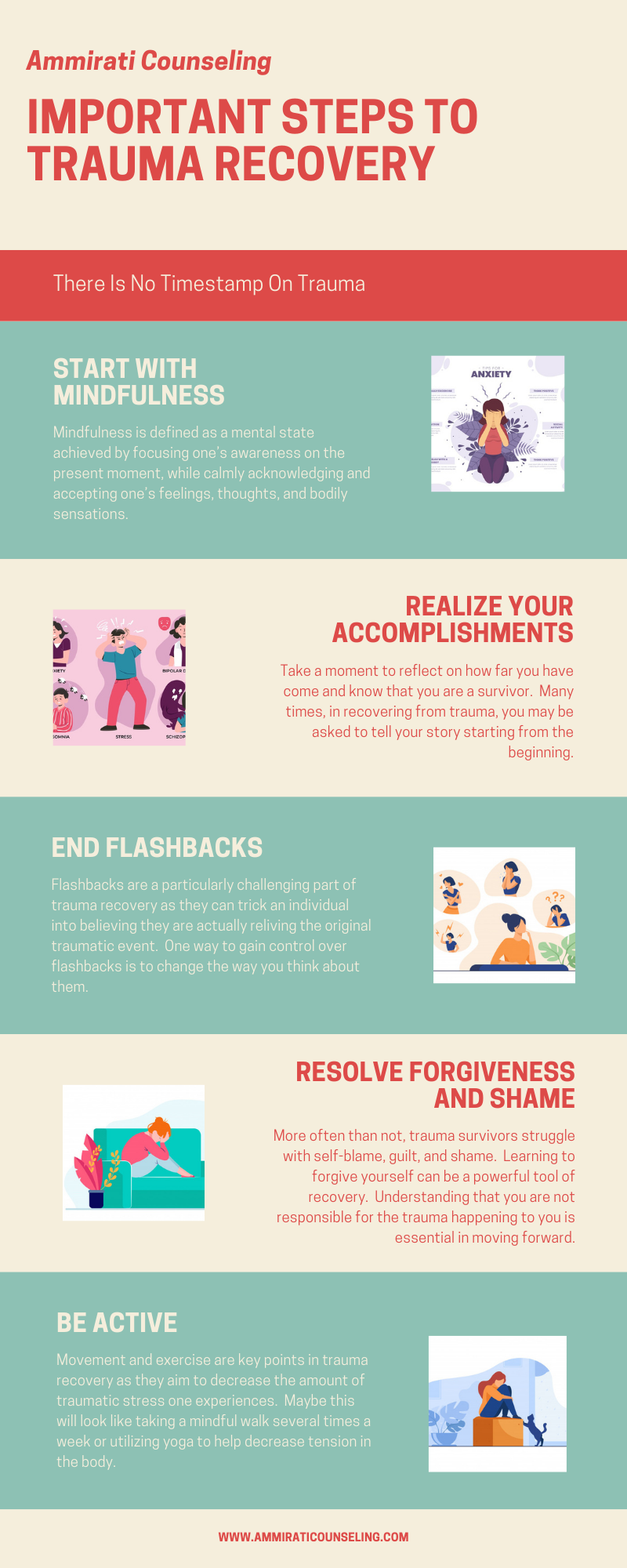 Important Steps to Trauma Recovery