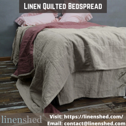 Linen Quilted Bedspread | Linenshed