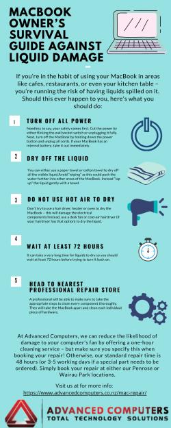MacBook Liquid Damage Guide and Repair Auckland