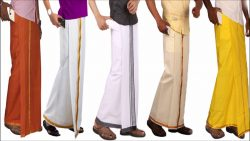 Velcro Dhoti with Pocket Solid Men Dhoti