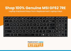 Shop 100% Genuine MSI GF62 7RE Laptop Keyboard Keys from Replacement Laptop Keys