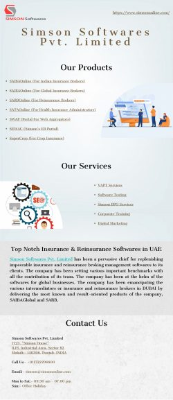 Simson Softwares Provides Softwares for Insurance/Reinsurance Brokers to Improve Operational Eff ...