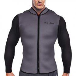 Men's Best Neoprene Wetsuit Jacket with Front Zipper Long Sleeves