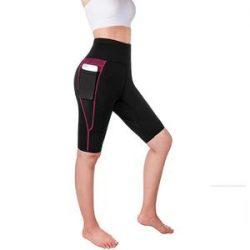 Women High Waist Sauna Sweat Shorts With Pocket – Nebility