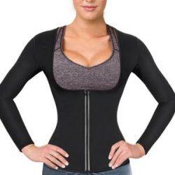 Women Sauna Suit Waist Trainer Neoprene Shirt For Sport Hot Body Shaper Top – Nebility
