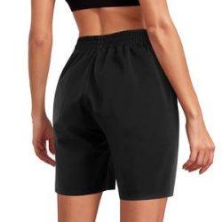 Womens Black Sauna Shorts Workout Pants With Side Pockets – Nebility