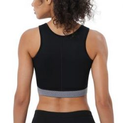 Women's High Impact Workout Support Bra Full Cup Top Vest With Front Zipper – Nebility