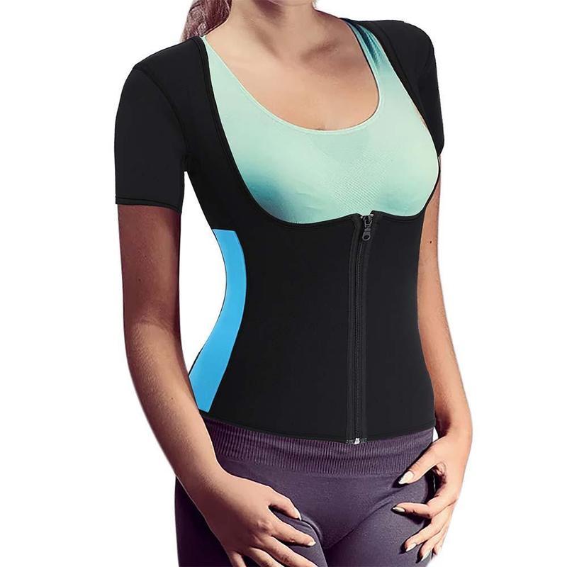 Women's Neoprene Sauna Vest with Sleeves – BRABIC