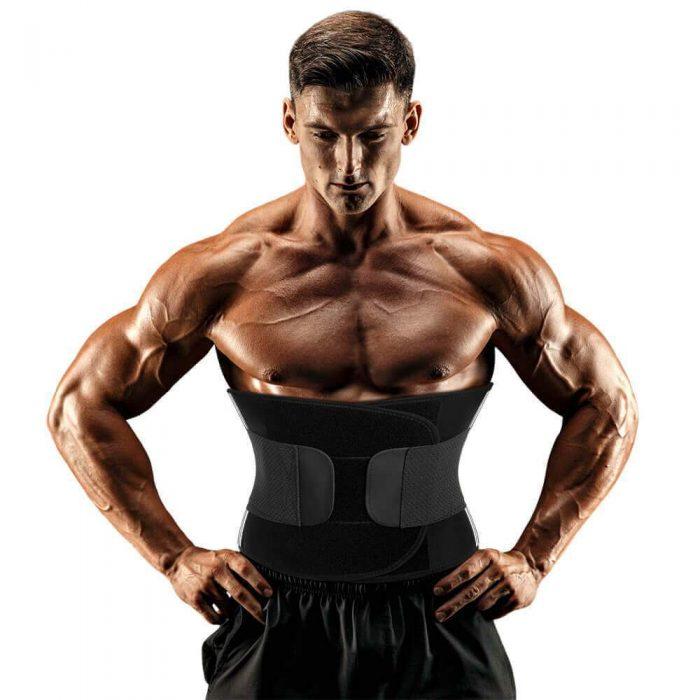 Men Aauna Sweat Waist Trainer Slimming Belt