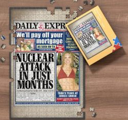 DAILY EXPRESS FRONT PAGE JIGSAW PUZZLE, PERSONALIZED FROM A SPECIFIC DATE YOU WERE BORN YOUR MEM ...