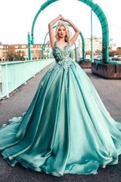 Heller Grün Abendkleider | Abiballkleider Lang Günstig