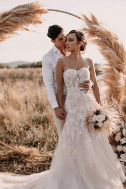 Designer Hochzeitskleider Meerjungfrau | Schlichtes Brautkleid Spitze