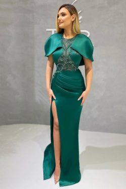 Abendkleider Dunkel Grün | Abiballkleider Lang Günstig
