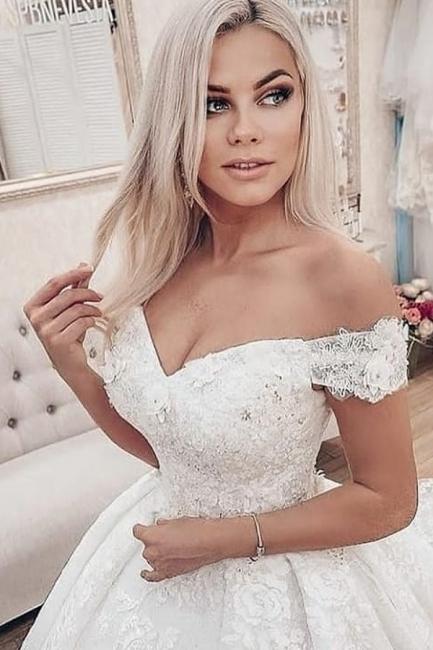 Prinzessin Hochzeitskleider Spitze   Wunderschöne Brautkleider Günstig