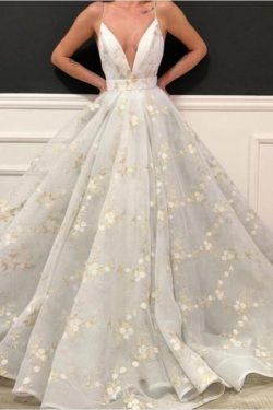 Designer Abendkleider Lang Weiß | Abiballkleider Günstig