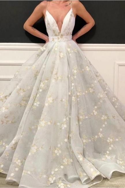 Designer Abendkleider Lang Weiß   Abiballkleider Günstig