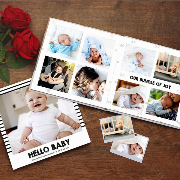 Custom Photo Book Online Design Newborn Photo Album