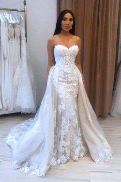 Designer Brautkleider A Linie | Hochzeitskleider Spitze