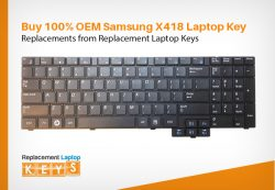 Buy 100% OEM Samsung X418 Laptop Key Replacements from Replacement Laptop Keys