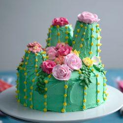 Cactus Cake + Flower Decoration Tutorial | Tastemade