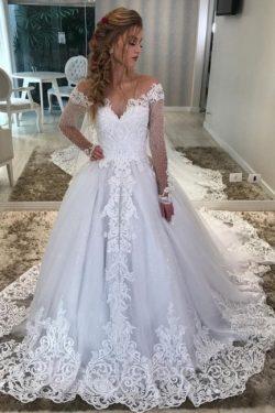 Modern Hochzeitskleider Mit Ärmel | Brautkleider A linie Spitze