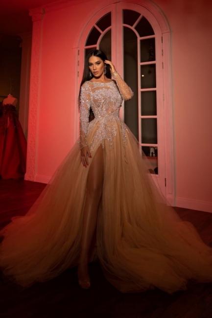 Extravagante Abendkleider Lang Günstig   Abiballkleider mit Ärmel