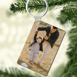 Custom Photo Keychain Rectangle Shaped | Gift For Dad