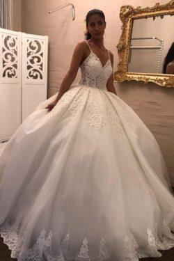 Wunderschöne Brautkleider Prinzessin | Hochzeitskleider mit Ärmel