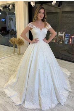 Vintage Brautkleid A Linie | Hochzeitskleider Spitze Standamt