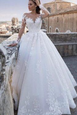 Schicke Hochzeitskleider Prinzessin | Brautkleider Mit Spitze