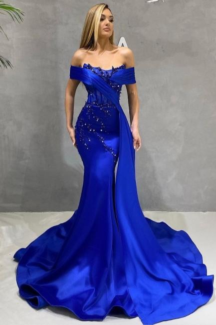 König Blaue Abendkleider Lang Günstig | Abiballkleider Online