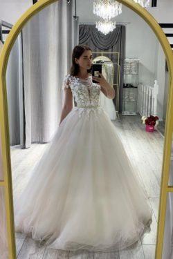 Designer Hochzeitskleid A Linie | Brautkleid Tüll