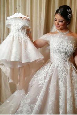 Schöne Brautkleider A Linie | Hochzeitskleider Spitze Online