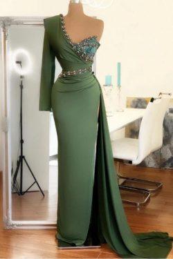 Elegante Abendkleid Grün | Abiballkleider Lang Günstig