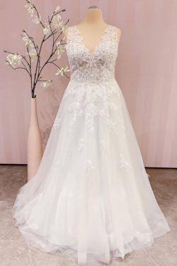 Schlichtes Brautkleid A linie | Boho Hochzeitskleider