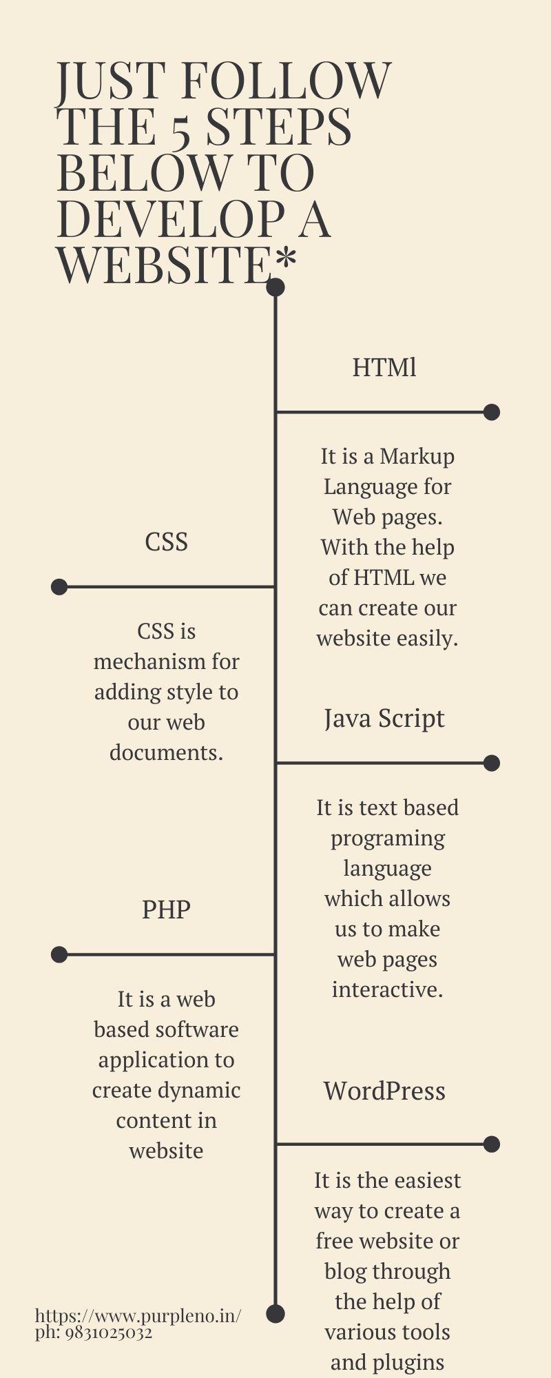 Important steps of website design & development.