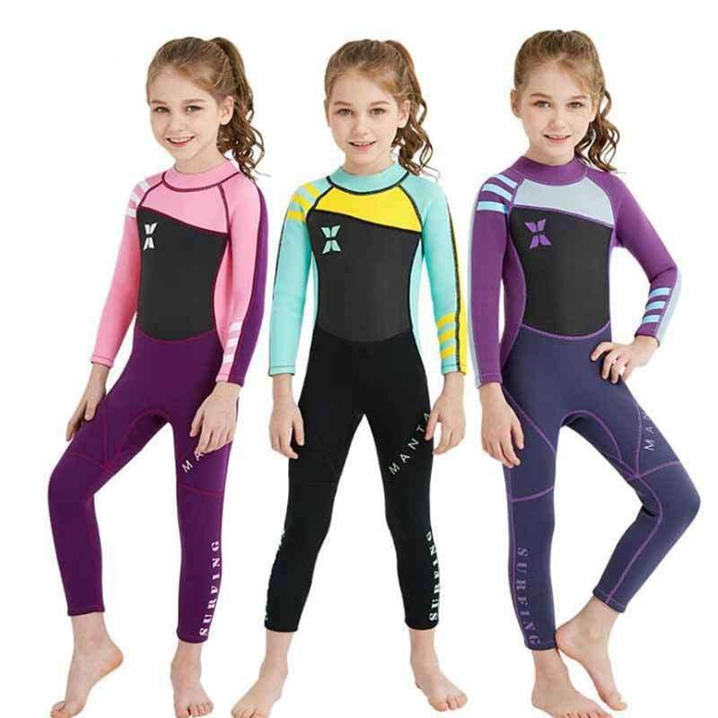 DIVE & SAIL Girls 2.5MM Full Wetsuit Kids Scuba Diving Suit