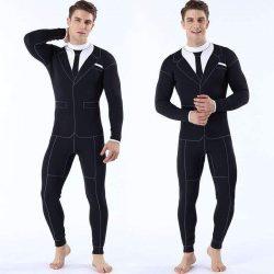 MYLEDI 3MM Cool Tuxedo Suit & Tie Freediving Wetsuit
