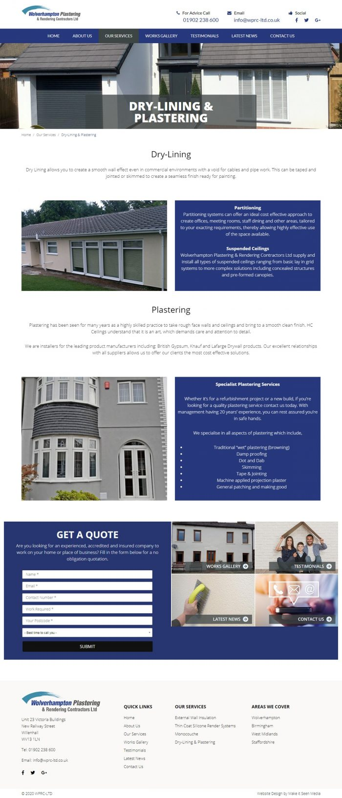 Dry lining contractors staffordshire
