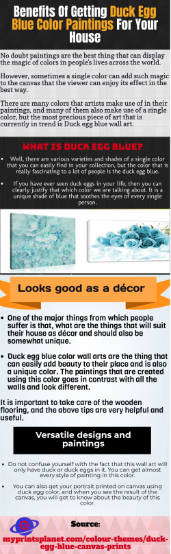 Duck Egg Blue Wall Art-Incredibly increase the value of your house
