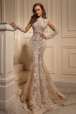 Brautkleider Mit Ärmel | Spitze Hochzeistkleid Meerjungfrau
