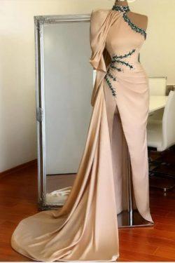 Designer Abiballkleider Lang Günstig | Abendkleid mit Ärmel