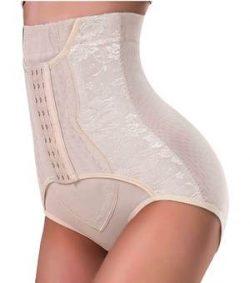 Nebility Women Plus Butt Lifter Hi-Waist Underwear