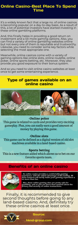 Variety of games on online casinos