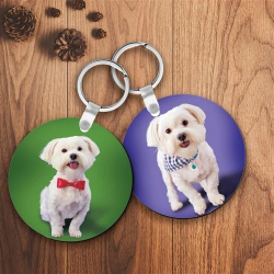 (Buy 2 Get 1 Free)Custom Photo Keychain Round Shape