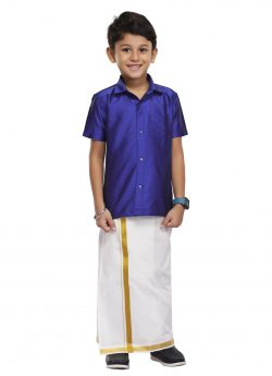 Violet Kids Shirt + Dhoti 2 In 1 Set (03)