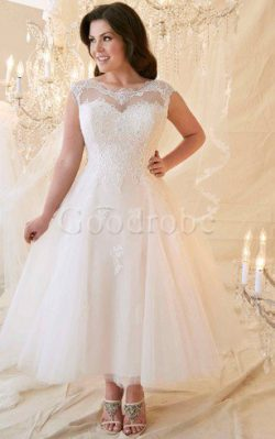 Robe de mariée elégant facile trou de serrure au drapée jusqu'à la cheville – GoodRobe