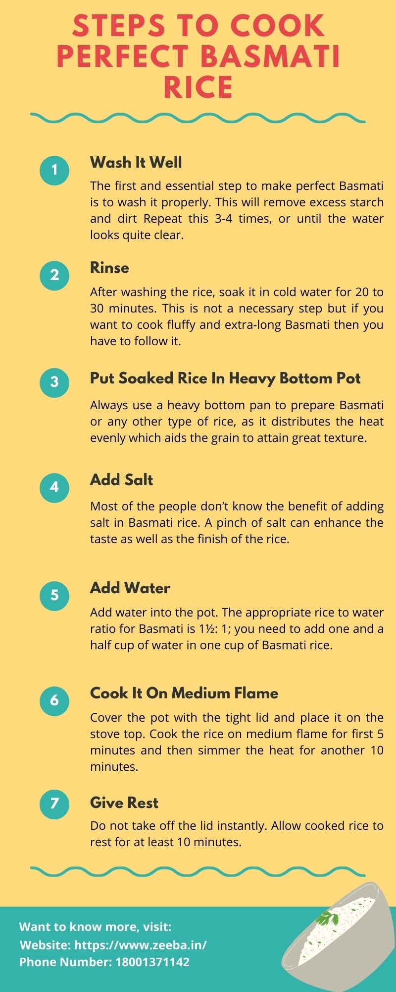 Steps To Cook Perfect Basmati Rice